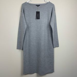 Lafayette 148 | Frosted Haze Melange Wool Dress S